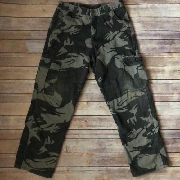 57c03710 Wrangler Bottoms | Boys Fleece Lined Cargo Pants Euc | Poshmark